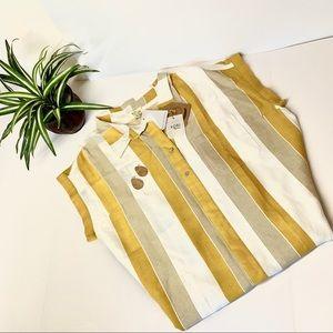 🆕KORI Striped Blouse Large